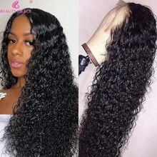 10 26 дюймов глубокий волнистый прозрачный парик из человеческих волос на фронте, парик с влажной и волнистой кружевной передней частью, плотность 150% 4X4, парик с кружевной застежкой