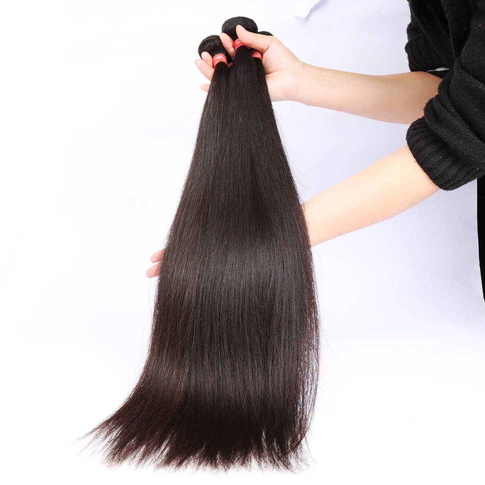 Poker Face Brazilian Straight 1 3 4 Bundles 100% Human Remy Hair Weave Bundles 100% Human Hair Bundles 3 4 Pieces Remy