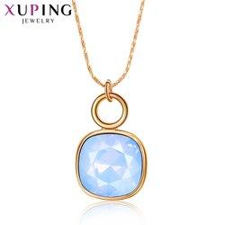 Biżuteria Xuping elegancki uroczy popularny styl złoty kolorowy platerowany naszyjnik dla kobiet walentynki prezenty SS1-30402