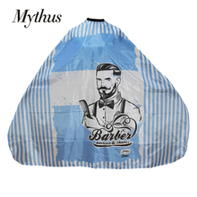 Mythus Stripe Hairstylist Capes Barberman Haircut And Shaving Hairdressing Gown Barber Cape Waterproof Hair For Salon