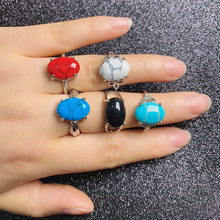 20pcs Natural Stone Rings Oval Shape Mix Style for Charms Jewelry Rings for Women Free Shipping The Inside Diameter of 18-20mm abraham ashley inside the stone