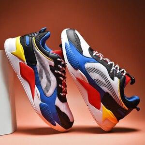 Image 5 - 高品質の男性の靴カジュアルスニーカーサファイアメッシュメンズ快適な通気性レースアップchaussureオムビッグサイズ 39 47