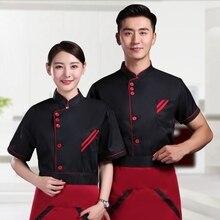 Work-Uniforms-Set Aprons Chef-Clothes Longsleeve-Jackets Restaurant Waiter Cafe Bakery