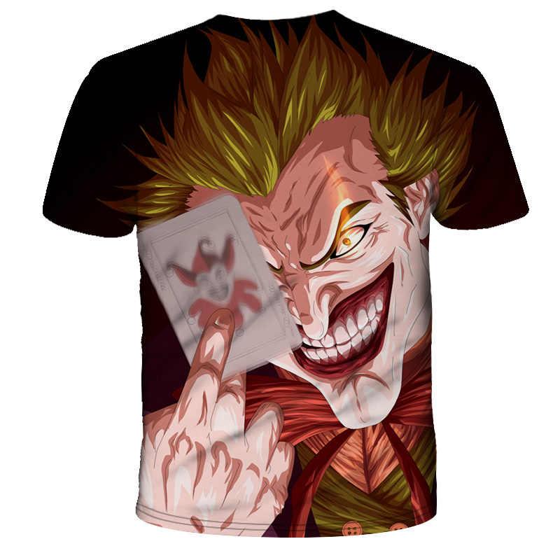 Джокер 2019 новый фильм 3d печать футболка для мужчин/женщин Летняя Повседневная футболка с коротким рукавом Одежда уличный стиль