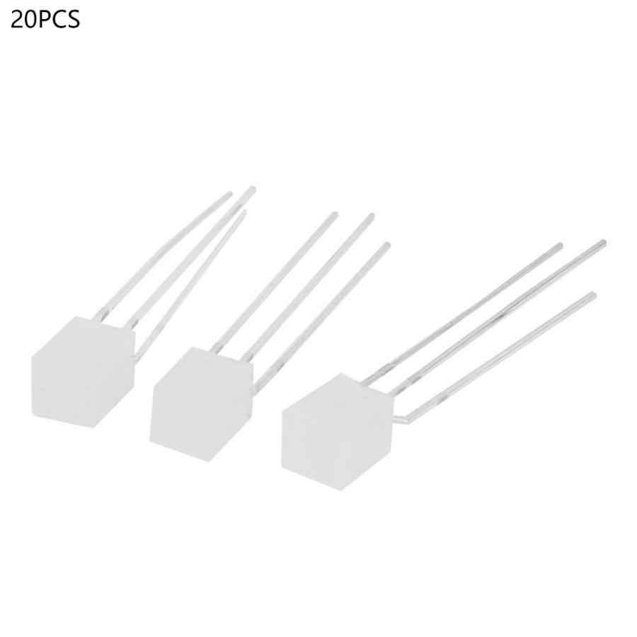 20 pièces lumière LED Diode carrée Diode électroluminescente rouge et vert lumière cathodique commune