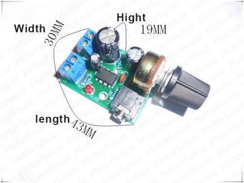 Mini LM386 3.5MM Audio Power Amplifier Board with Adjsut Volume DC 3V~12V 5V 6V Volume Knob AMP Module