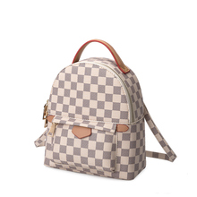 KYYSLO Wild Plaid Luxury Lady Bags Backpack New Temperament