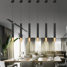 Modern Minimalist Black Art LED Pendant Lamp Lighting Nordic Decorative Pendant Lights Dining Kitchen Living Room Hanging Lamps fashion personality nordic modern pendant lights minimalist dining room single industrial wind bar pendant lamps za fg710
