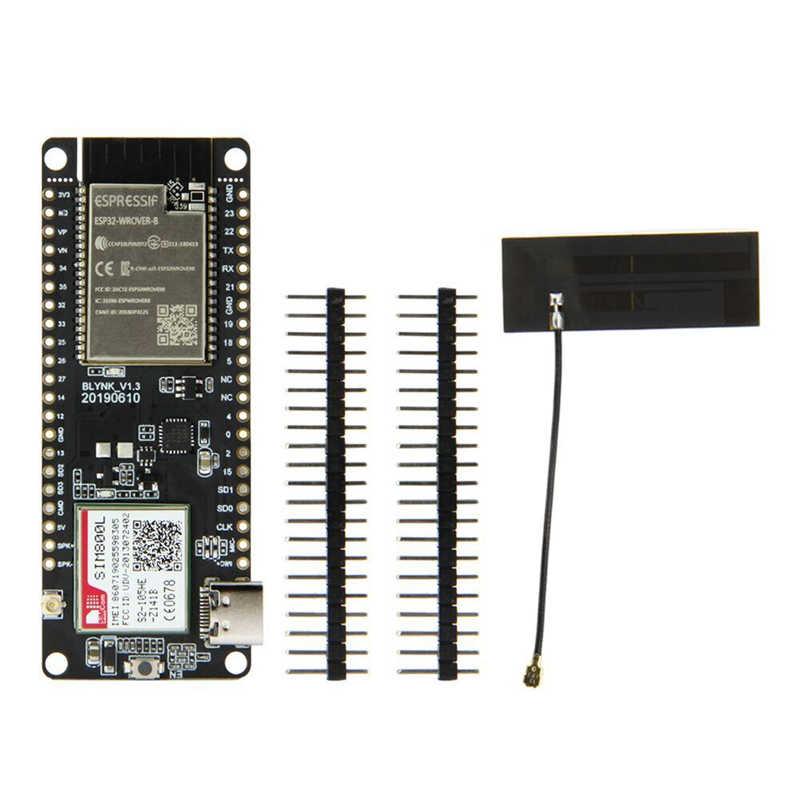 TTGO T-çağrı V1.3 ESP32 kablosuz modülü GPRS anten SIM kart SIM800L modülü ESP32-WROVER-B 2.4GHz SIM800L geliştirme kurulu