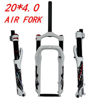 PASAK 20 Inch Snowmobile ATV Bike Shock Absorber Gas Front Air Fork Magnesium Alloy Wide Tire 4.0 Off road Bicycle 135MM