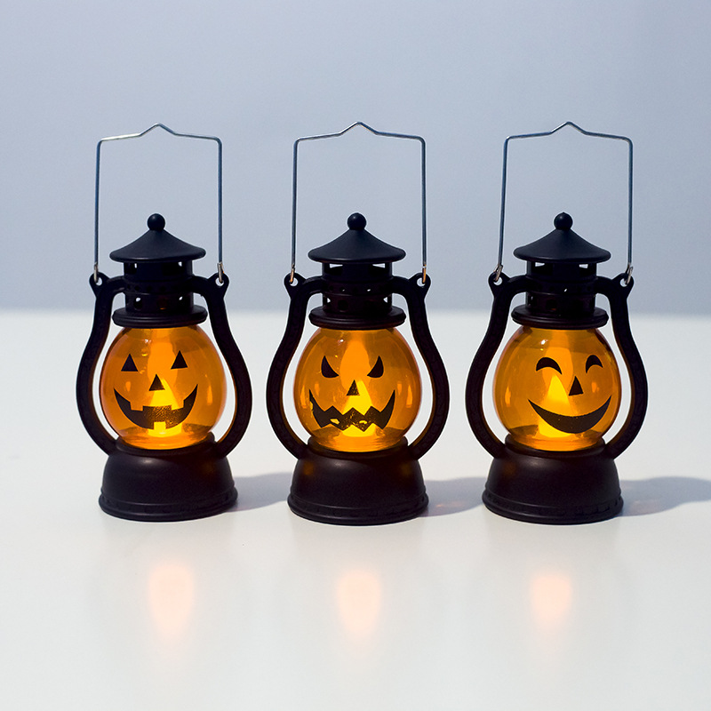 Halloween Vintage Lantern Party Hanging Decor LED Light Lamp Portable Nightlight Guirlande Lumineuse Decorative Lights