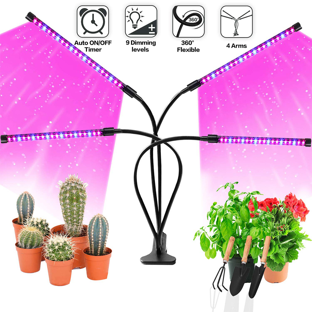 Full Spectrum LED Grow Light DC 5V 10W 20W 30W 40W Clip-on USB Powered Dimmable Phyto Lamp Plant Growth Light For Indoor Flower