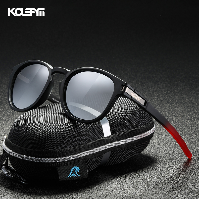 KDEAM Skateboarding Stylish Polarized Sunglasses Men Flexible TR90 Frame Keyhole Bridge Mirror Coating Sun Glasses Women KD997