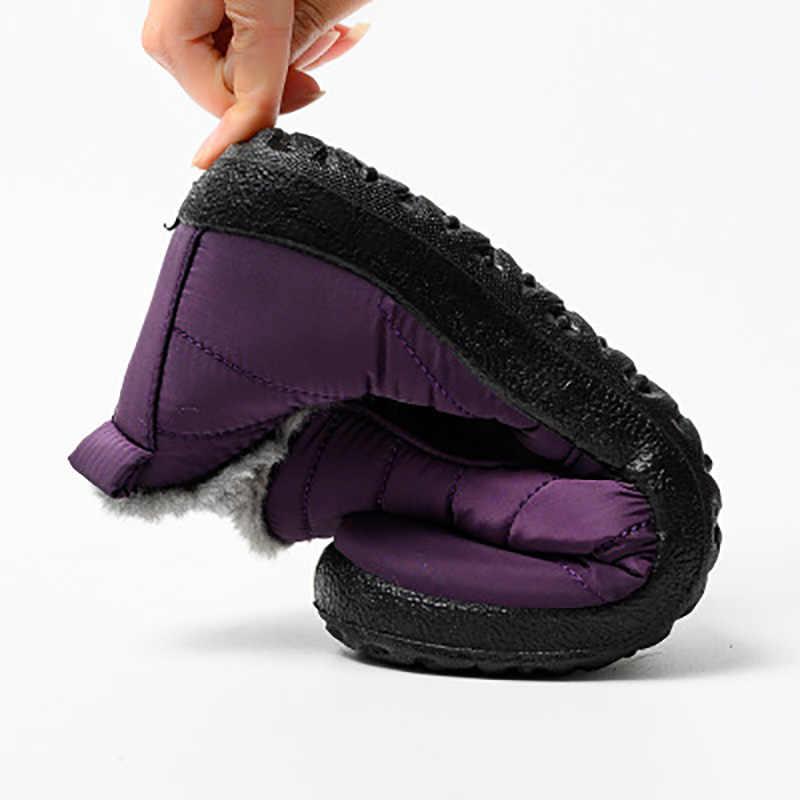 LAKESHI cálido invierno botas de nieve mujer Botines de Mujer Zapatos botas de invierno hombres botas impermeables zapatos de terciopelo botines cortos