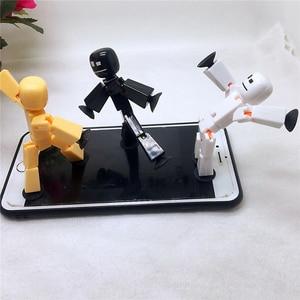 Image 4 - 1 sztuk przyklejony Robot zabawki figurki akcji z Sucker plastikowe chłopca Playhouse śmieszne odkształcalne Stickbot zabawki dla dzieci prezenty bożonarodzeniowe