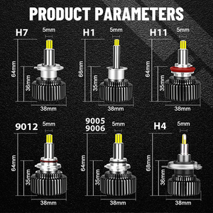 Image 5 - Bombillas de luz Led para coche, Faro de 360 grados, H8, H9, H1, H11, H7, 9012, 9006, HB3, 9005, 6000K, 8000K, Universal Mini