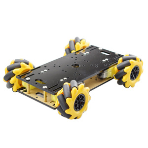 New Double Chassis Mecanum Wheel Robot Car Chassis Kit with TT Motor for Arduino Raspberry Pi Cheapest DIY STEM Toy Parts
