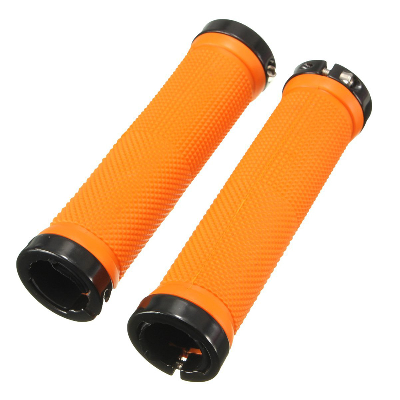 1 Pair Bicycle Handle Grip MTB BMX Bike Handlebar Grips Orange