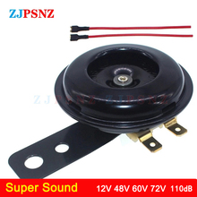 Speakers Electric-Horn-Kits Moped Scooter Loud-Horn Motorcycle E-Bike Round Waterproof