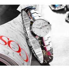 Ultra-high-grade Tungsten Steel Strap Business Ladies Watch Luminous Waterproof Female Quartz Female Automatic Watches(China)
