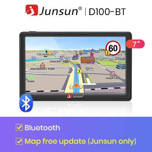 Junsun 7 дюймов HD gps-навигации автомобильный FM 8 ГБ / 800 мГц карта бесплатное обновление россия навител системный блок навигатор автомобильный - Размер экрана, дюймов: with Bluetooth