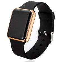 Relojes digitales deportivos para hombre y mujer, pulsera electrónica LED con correa de silicona, Masculino