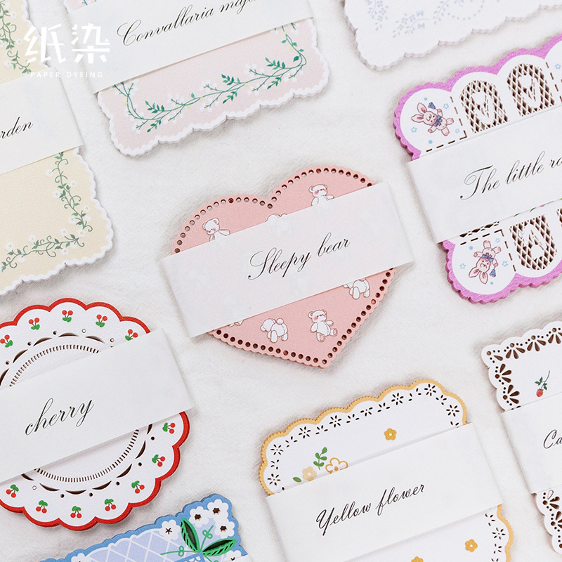 Vintage Hollow Out Sticky Love Flower Notes Memo Pad Diary Stationary Flakes Scrapbook Decorative Cute Flowers N Times Sticky
