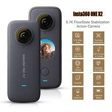 Insta360 אחד X2 FlowState ייצוב פנורמי פעולה מצלמה 5.7K 30fps LCD מגע מסך 10m גוף עמיד למים HDR APP עריכה