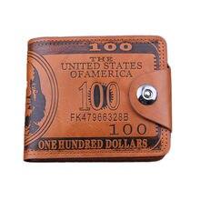 Portefeuille en cuir avec boucle magnétique pour homme, porte-monnaie créatif court et mince avec pince à billets