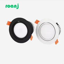 Dimmable LED downlight COB spotlight ceiling light AC110V 220V 5w7w9w12w15w18W 25W 30Wrecessed round led panel
