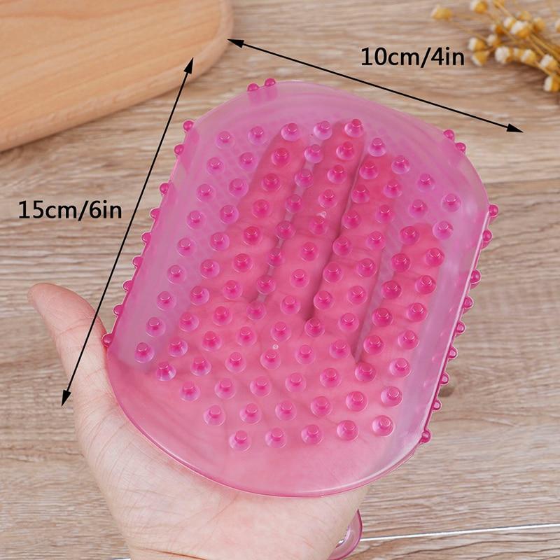 Для пилинга тела ванны щетки отшелушивания перчатки щетки для ног для ванны тела щетки 1шт мягкого силикона массажа скраба перчаток
