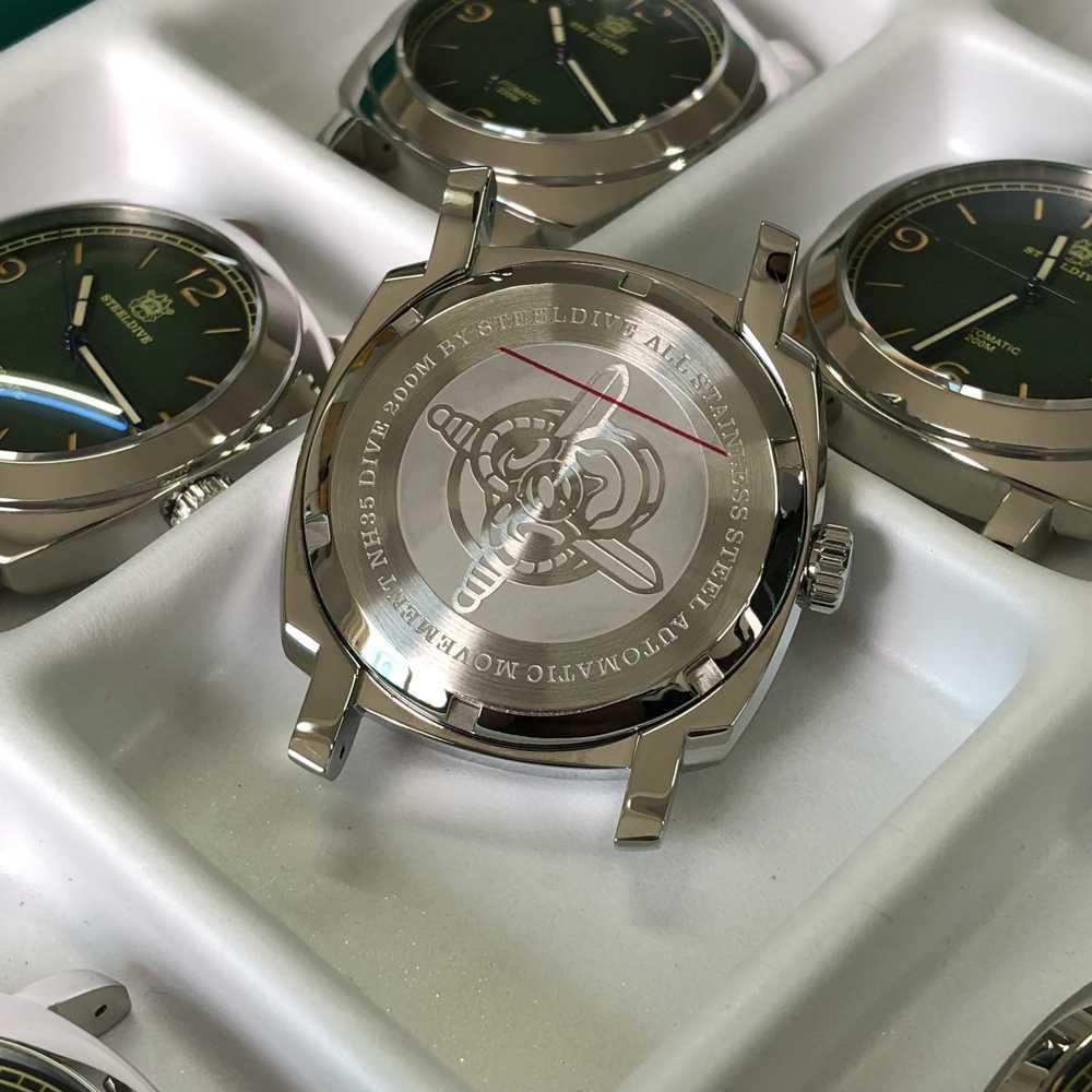 Aço mergulho 2020 nova chegada relógio mecânico automático c3 super luminoso aço relógios de mergulho masculino 200m nh35 relógio mecânico
