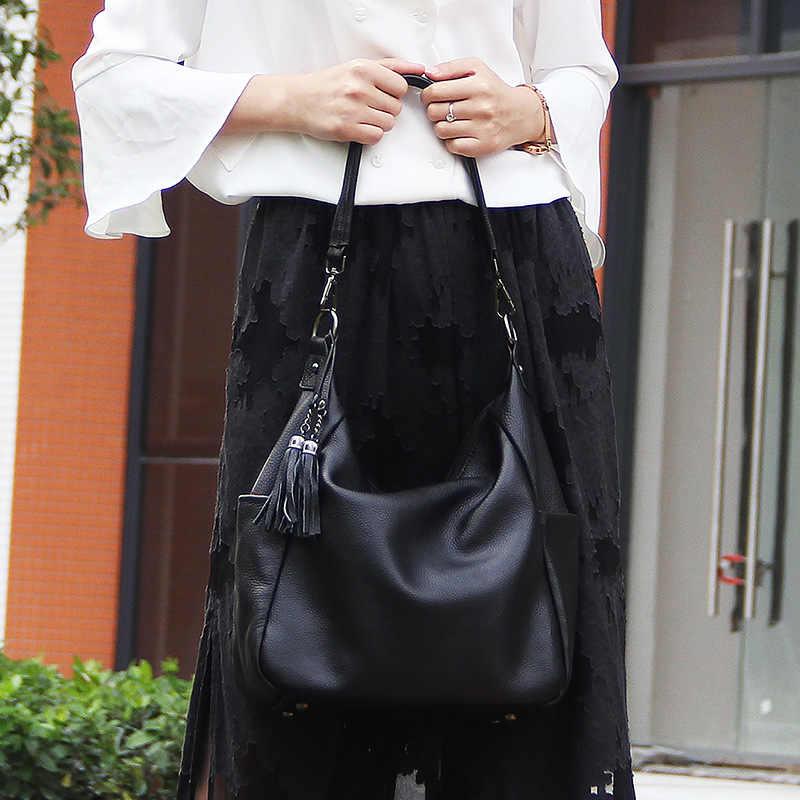2019 couro novo moda Europeus e Americanos das mulheres Sacola saco temperamento ombro mão pacote diagonal de couro camada superior
