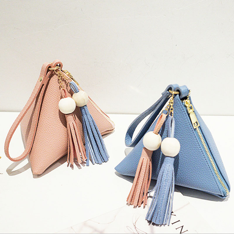 Loss Promotion Leather Handbag Mini Triangle Women Clutch Purse Hand Bag Lady Clutches Casual Phone Package Portefeuille Femme