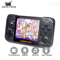 DATA FROG Retro Game Console RG350 64bit Handheld Console 3.5 Inch IPS Screen Dual core 16G+128G TF Arcade Game Player PS1