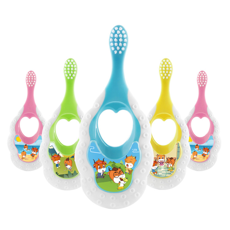 Anti Slip Handle Children Cartoon Toothbrush Baby Soft bristles toothbrush Kids Training Toothbrush For Toddler Dental Oral Care image