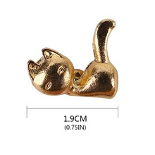 Cute kitten earrings Cat Kitten Long Tail Animal Stud Earring Christmas Gifts Jewelry for Women Girls Pendientes Brincos(China)