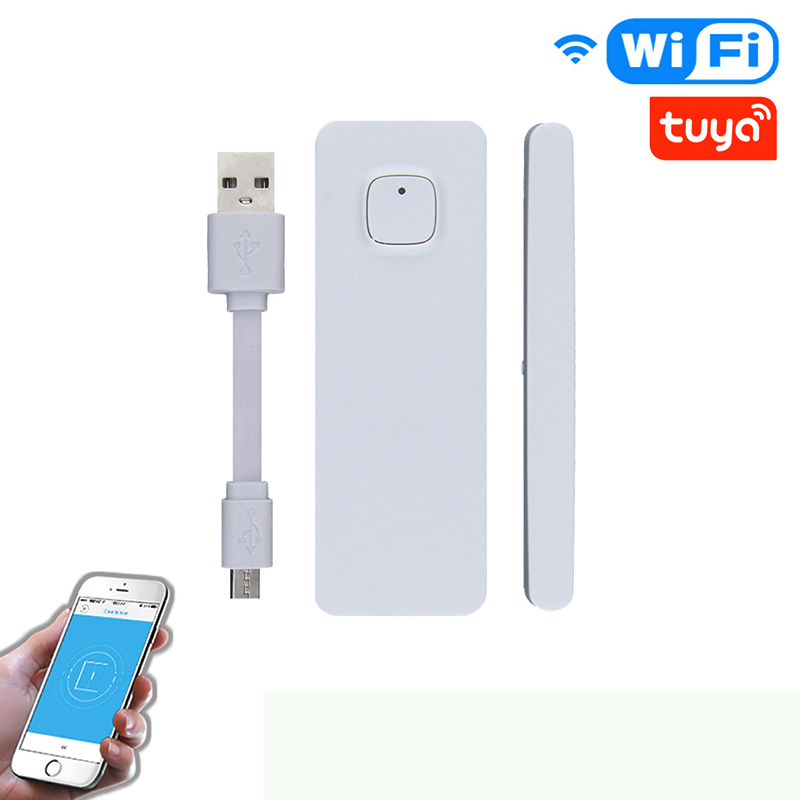 Smart Door/Window Sensor WiFi USB Charging APP Notification Alerts Home Alarm Security Detector Work With Alexa Google Home