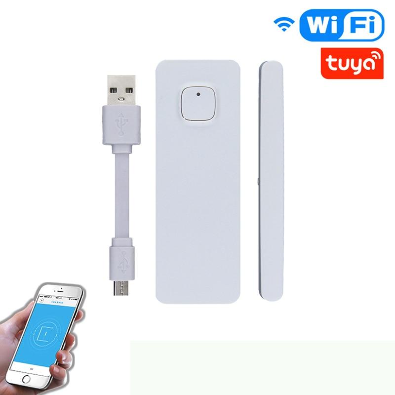 Smart Door/Window Sensor WiFi USB Charging APP Notification Alerts Home Alarm Security Detector Work With Alexa Google Home