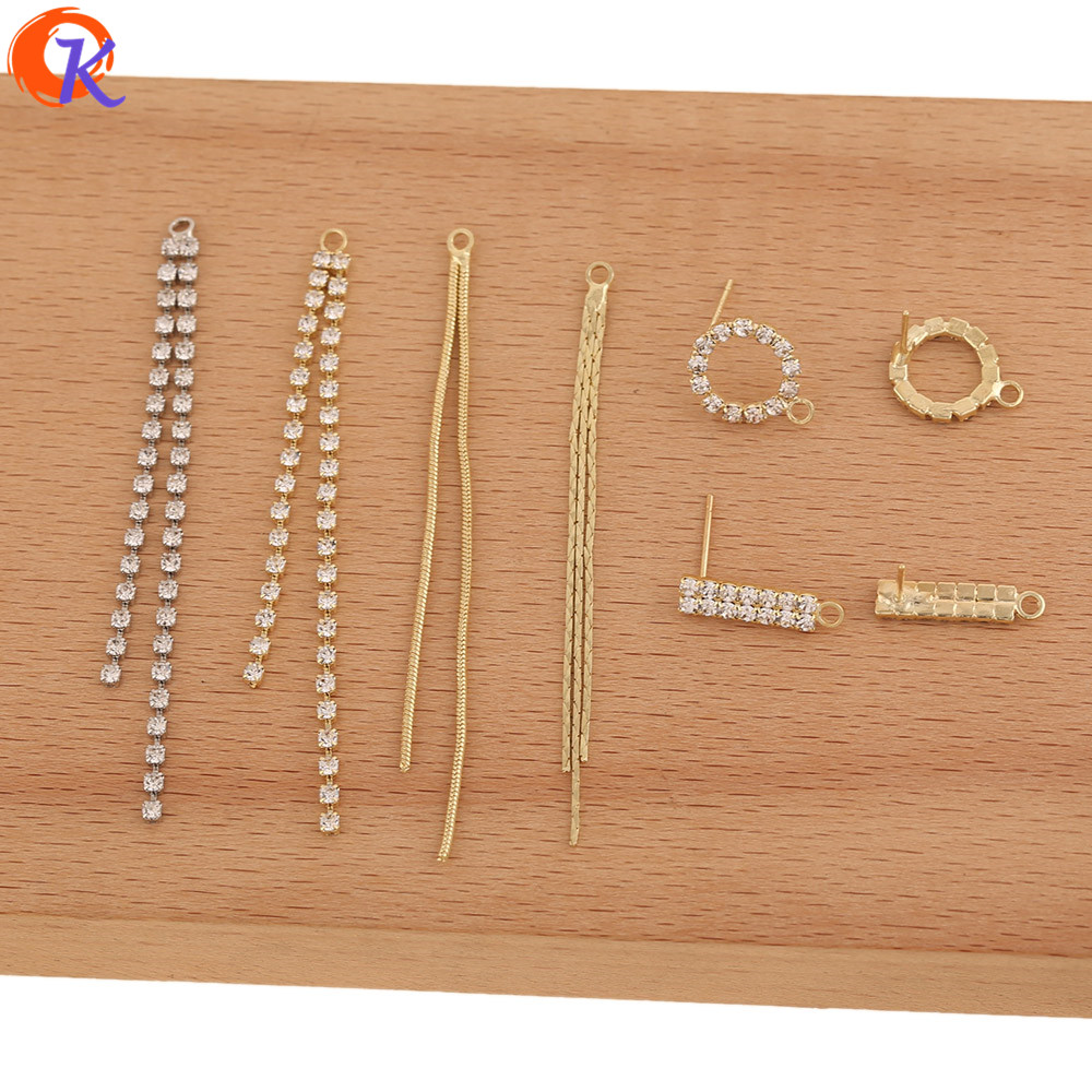 Cordial Design 100Pcs Jewelry Accessories/DIY Making/Hand Made/Rhinestone Claw Chain/Jewelry Findings Component/Earrings Parts