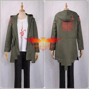 Image 2 - Anime Super Danganronpa 2 Nagito Komaeda Nagito Cosplay Costume Adult Hoodies Army Green Zipper Jacket T Shirt Pants Halloween