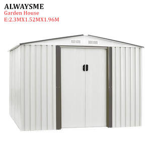 ALWAYSME Garden-House-Tool Shed Outdoor Storage Metal-Material E-Style