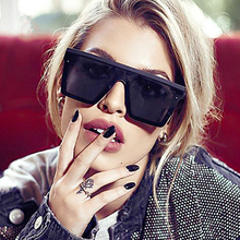 Retro Oversized Square Sunglasses Women Men Brand Designer G