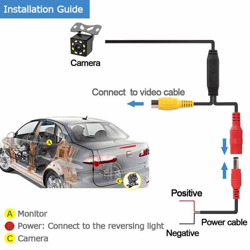 LEXSSON uniwersalny widok z tyłu samochodu kamera parkowania HD CCD wodoodporny 12V z przodu/z boku/widok z tyłu kamera do monitor samochodowy dvd NTSC