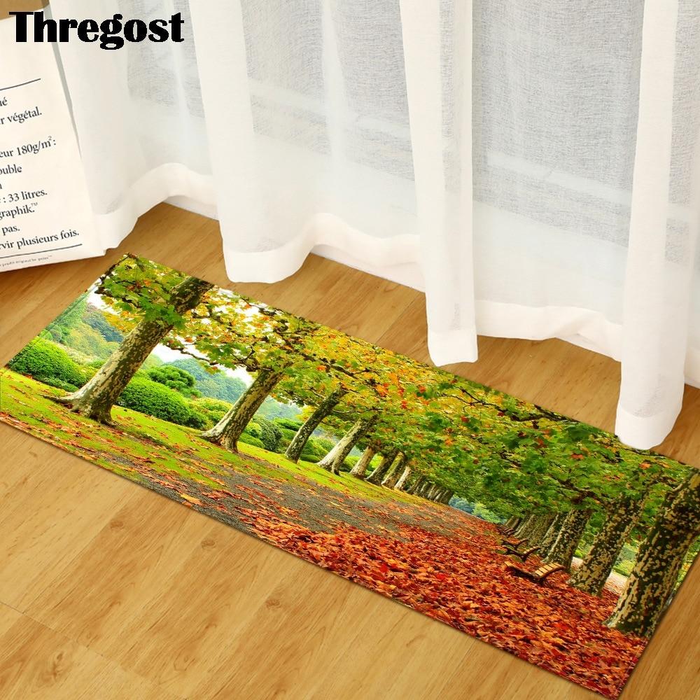 Print Long Carpet Microfiber Floor Mats