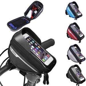 Велосипедная сумка с чартерной ручкой, мобильный телефон, сумка для горной дороги, аксессуары для езды на велосипеде