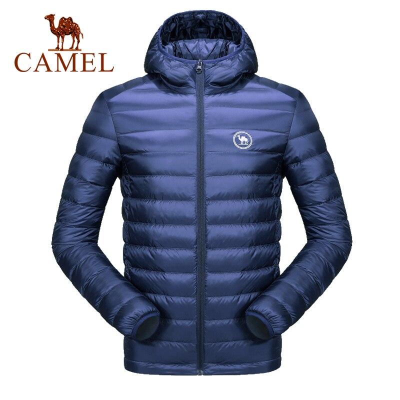 CAMEL Casual White Duck Down Jacket Men Women Autumn Winter Warm Coat Ultralight Duck Down Jacket Male Female Windproof Parka