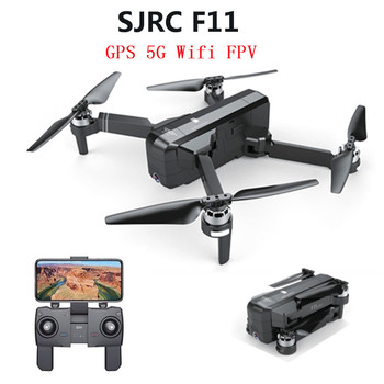SJRC F11/F11 PRO GPS 5G Wifi FPV With 2K Wide Angle Camera 28 Mins Flight Time Brushless Foldable RC Drone Quadcopter RTF Dron