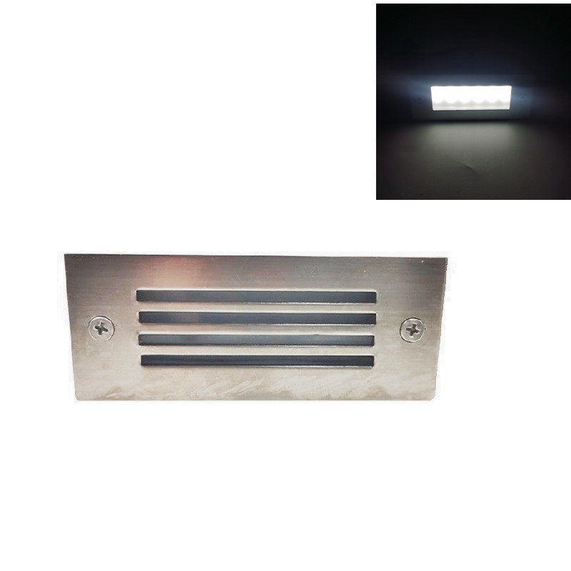LED Deck Step Light 15Leds Underground Lamp Recessed Stair Paitio Ground Spot Light Floor Garden Landscape Wall Outdoor Lighting