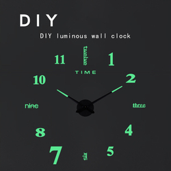 3D Luminous Wall Clock Large Creative DIY Clock Acrylic Wall Sticker Living Room Quartz Needle Horloge Home Decor Reloj de Pared
